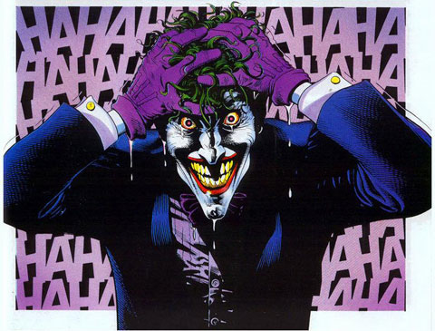 "Joker image from Alan Moore and Brian Bolland's ""The Killing Joke"""