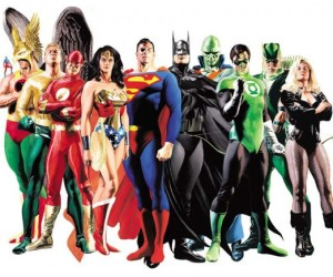 """Justice League"" portrait by Alex Ross"