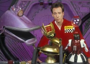 Joel Hodgson with his Satellite of Love Pals