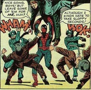 """<img src=""""Spider-Man-Sloppy-Seconds"""" alt=""""Spider Man Sloppy Seconds""""/>"""