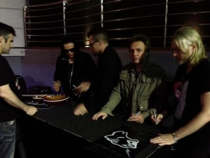 Stevenson post-show with The Cult in Australia.